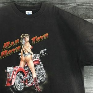 Vintage Bad Boys & Toys Motorcycle Tee